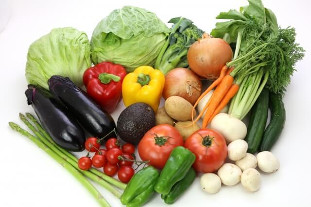 カロテノイドを含む食品(食材)である野菜の例