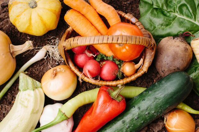 アスタキサンチンと一緒に摂りたい食品(食材)である野菜の例