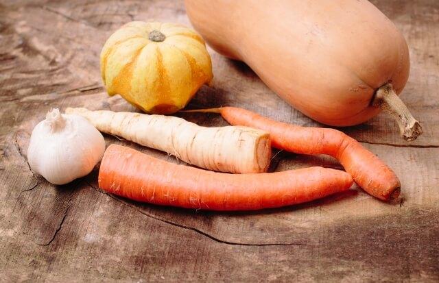 抗酸化作用のあるファイトケミカルを含む食品・食べ物にかぼちゃや人参などのカロテノイドがある