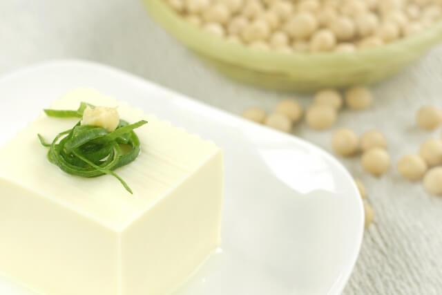 乳化の消泡作用による豆腐