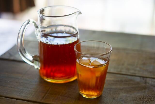乳化の可溶化作用による麦茶