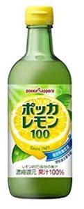 ポッカレモンを用いたレモン水の作り方