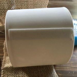 「植木鉢」のまわりに「両面テープ」を貼り付けて「麻布」を巻いていきます