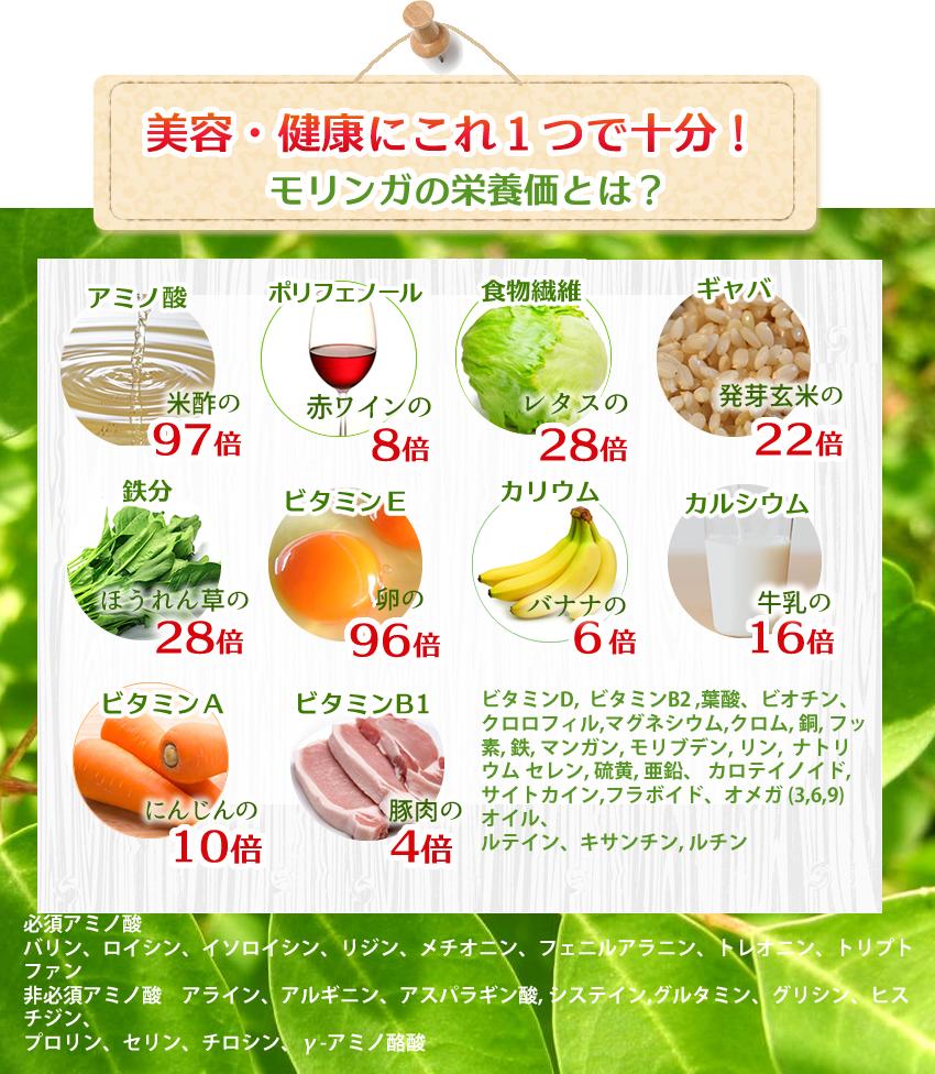 モリンガ茶の栄養成分