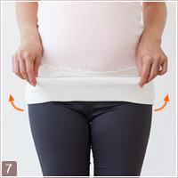 妊娠中における骨盤ベルトの付け方9