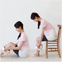 妊娠中における骨盤ベルトの付け方2
